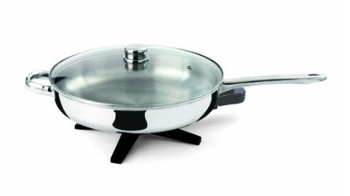 Toastess DLFP458 Stainless-Steel 12-Inch Electric Skillet